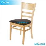 Ghế ăn G04 Cabin màu gỗ tự nhiên